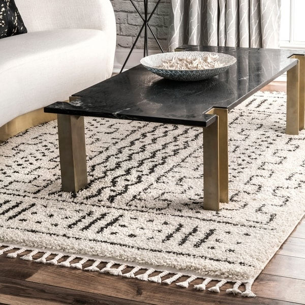 Shop Nuloom Off White Contemporary Soft Moroccan Boho Chic