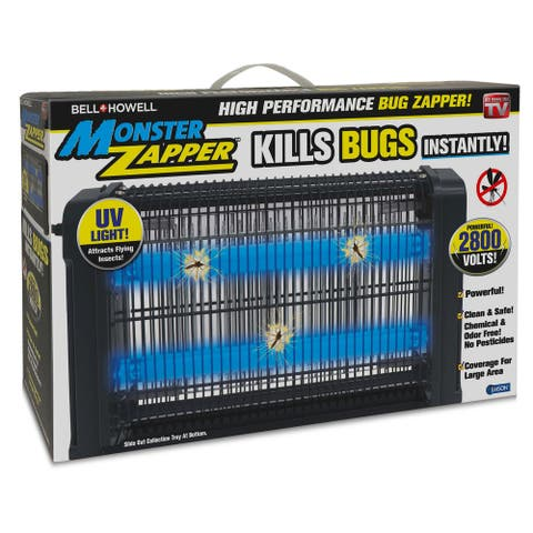 Bell Howell High Performance Monster Pest Insect Zapper - Black