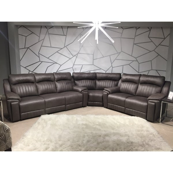 Shop Southern Motion Silver Screen Grey Faux Leather