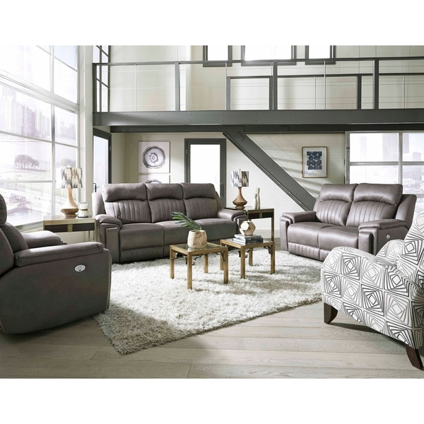 Shop Southern Motion S Silver Screen Double Reclining Sofa