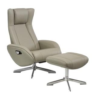 Maya Chair and Ottoman Grey