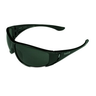 Bolle Highwood Sunglasses Shiny Black w/ Polarized TNS Lens - Large