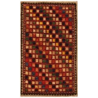 Link to Handmade One-of-a-Kind Kazak Vegetable Dye Wool Rug (Afghanistan) - 1'8 x 2'9 Similar Items in Rugs