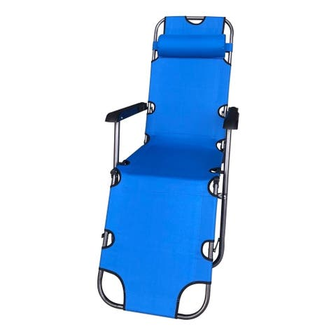 ALEKO Foldable Zero Gravity Camping and Lounge Chair Blue