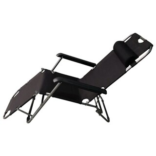 ALEKO Foldable Zero Gravity Camping and Lounge Chair Black