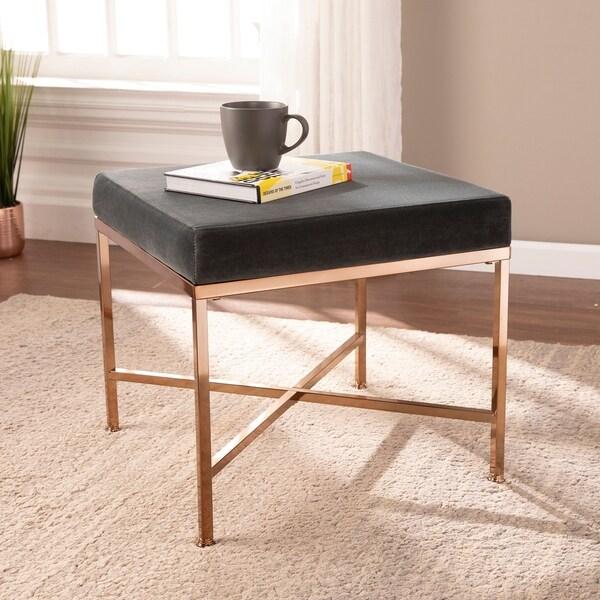 Shop Quattro Art Deco Upholstered Vanity Stool On Sale Free