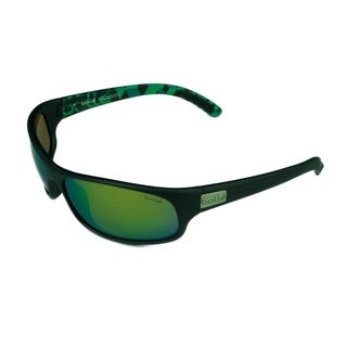 Bolle Anaconda Sunglasses Matte Blue/Green w/ Polarized Brown Emerald Lens - Blue - Medium