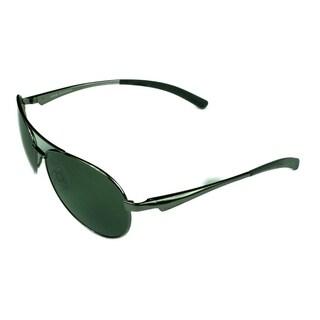 Bolle Cassis Sunglasses Shiny Gunmetal w/ Polarized Axis Lens - Silver - Medium