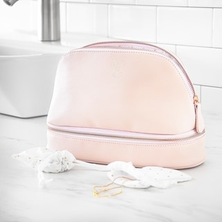 Link to Personalized Blush Pink Vegan Leather Travel Case Similar Items in Travel Accessories