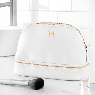 Link to Personalized Embossed White Vegan Leather Travel Case Similar Items in Travel Accessories