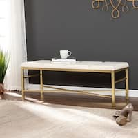 Orinda Gold Upholstered Entryway/Dining Bench