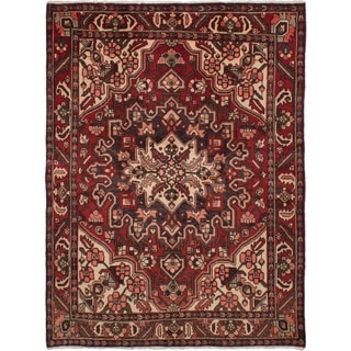 ECARPETGALLERY  Hand-knotted Bakhtiar Red Wool Rug - 5'1 x 6'9