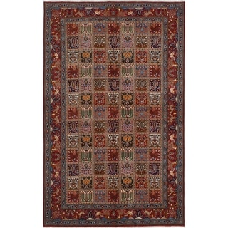ECARPETGALLERY  Hand-knotted Mood Birjand Red Wool Rug - 5'0 x 8'0
