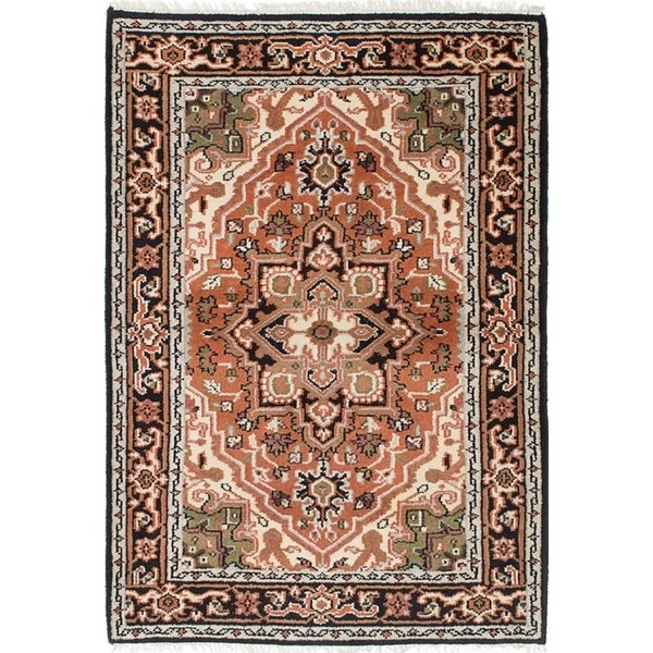 Shop Ecarpetgallery Hand Knotted Royal Heriz Copper Wool Rug 4 1 X