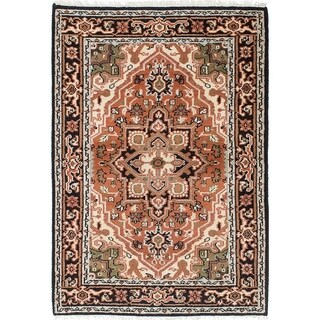 ECARPETGALLERY Hand-knotted Royal Heriz Copper Wool Rug - 4'1 x 5'10