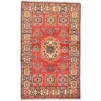 ECARPETGALLERY  Hand-knotted Finest Kargahi Dark Copper Wool Rug - 3'11 x 6'5