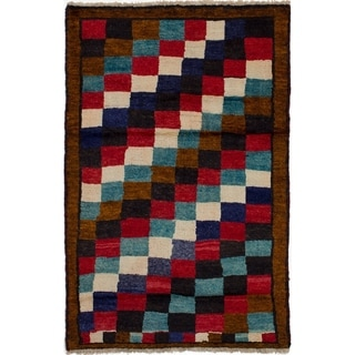 ECARPETGALLERY  Hand-knotted Persian Gabbeh Brown Wool Rug - 3'9 x 5'11
