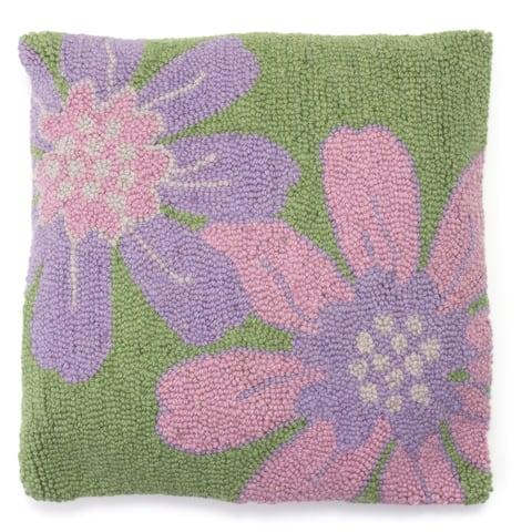 Gardenia Hooked Wool Pillow
