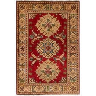 ECARPETGALLERY  Hand-knotted Finest Gazni Red Wool Rug - 3'5 x 5'2