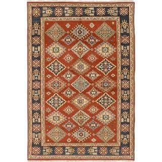ECARPETGALLERY Hand-knotted Royal Kazak Wool Rug