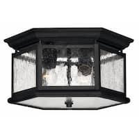 Hinkley Edgewater 2-Light Outdoor Flush Mount in Black