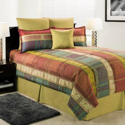 Wendermere classical patchwork comforter set