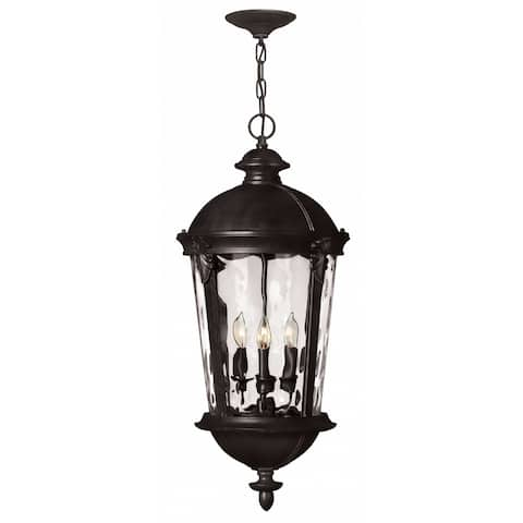 Hinkley Windsor 4-Light Outdoor Pendant in Black