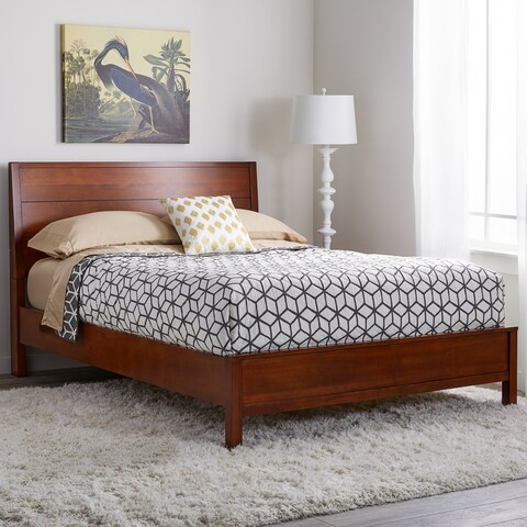 Strick & Bolton Asher Queen-size Bed Chestnut
