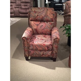 Southern Motion Pep Talk Pink Paisley Pattern Power Headrest Hi-Leg Recliner