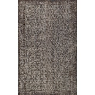 ECARPETGALLERY  Hand-knotted Color Transition Light Grey Wool Rug - 5'7 x 9'1