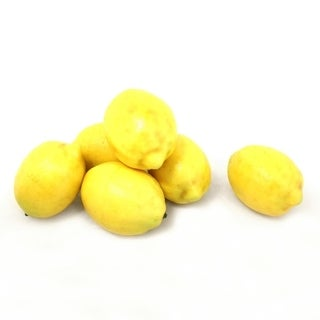 ALEKO Home Decoration Realistic Faux Fruits Lot of 6 Lemons