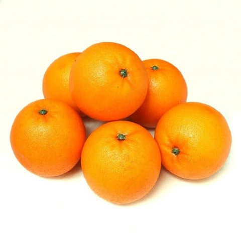 ALEKO Home Decoration Realistic Faux Fruits Lot of 6 Oranges
