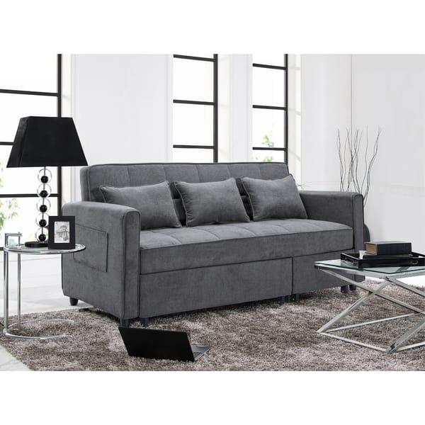 Shop Relax A Lounger Scarlett Grey Fabric Sofa - Free ...