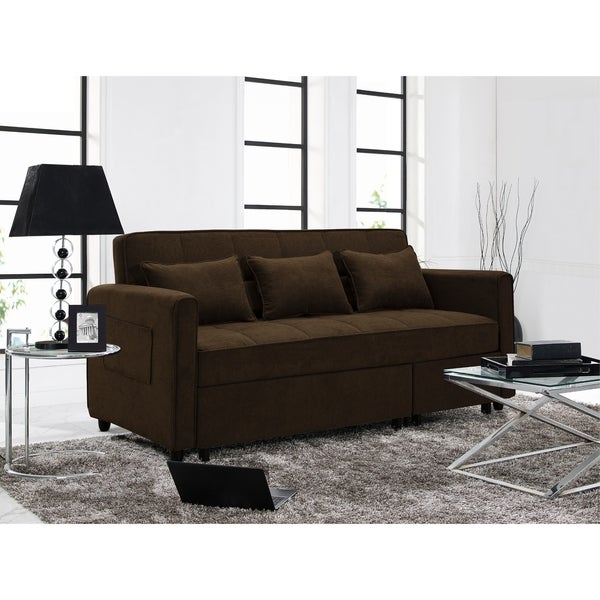 Shop Relax A Lounger Scarlett Dark Brown Sofa - Free Shipping Today ...