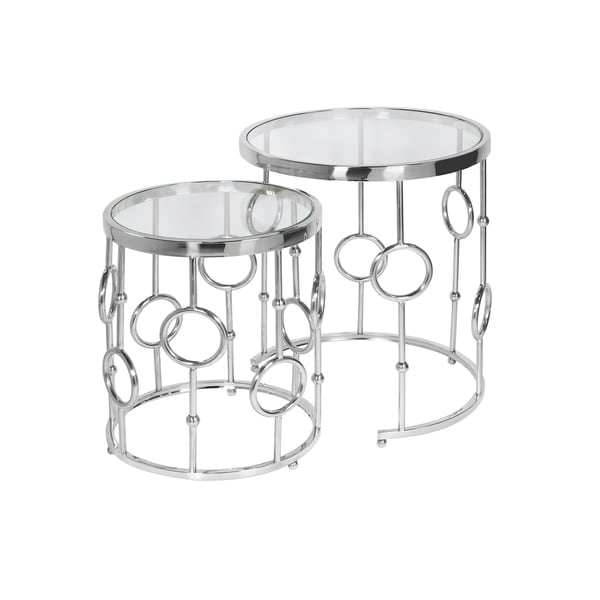 Shop baker metal and glass nesting table set of on