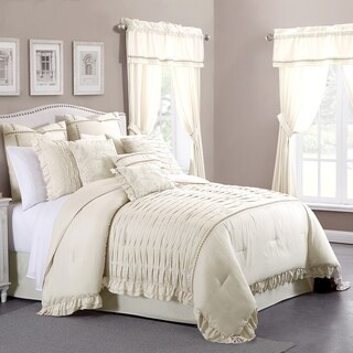 Amrapur Overseas Antonella Sand 24-piece Bed in a Bag Set Ivory
