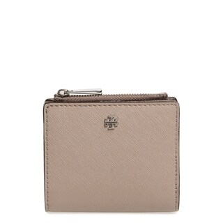 Tory Burch Robinson Mini French Grey Leather Wallet - Small
