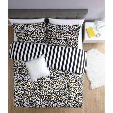 Lemon & Spice Nala Leopard Reversible 3 & 4 Piece Comforter Mini Set