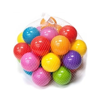 ALEKO Non Toxic Plastic Balls For Bouncy House Various Color Set of 60 - each ball 2.5 inch