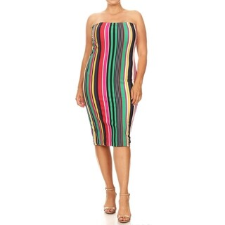 Women's Casual Bodycon Plus Size Midi Dress