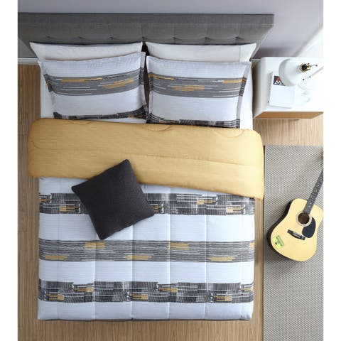 Lemon & Spice Damien Stripe 3 & 4 Piece Comforter Set