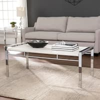 Silver Orchid Harvey Faux Stone Coffee Table