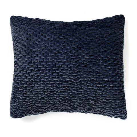 Ellie Indigo Velvet Throw Pillow