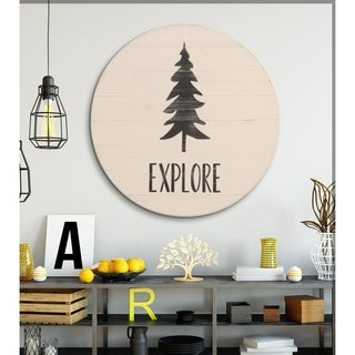 Explore Sign Farmhouse Travel Round Wall Hanging