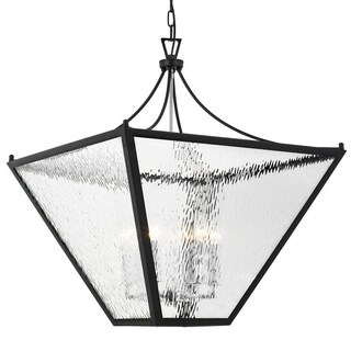 Crystorama 6-light Matte Black Outdoor Chandelier