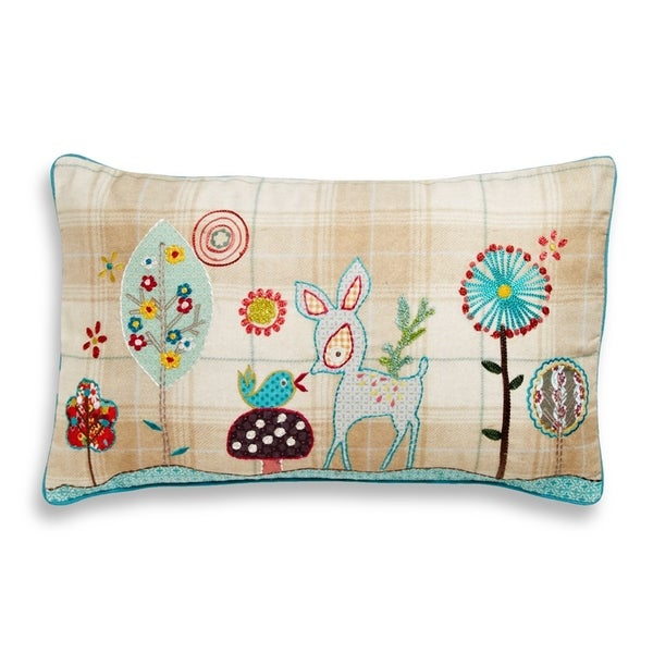 Cottage Home Woodland Cotton Throw Pillow