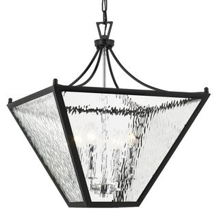 Crystorama 4-light Matte Black Outdoor Chandelier