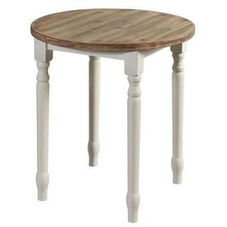 Quail Farm White Wooden Round Spool-style Table