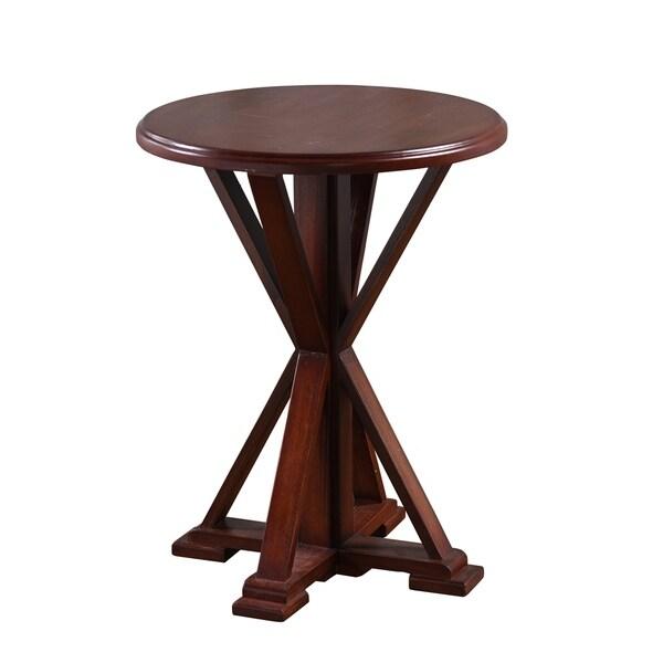 Presley Dark Brown Wooden Accent Table