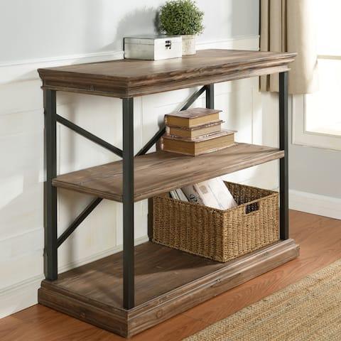 StyleCraft Archer Ridge 3-Tier Driftwood Grey Bookcase